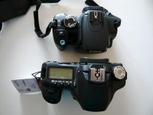 Canon 350D vs 50D - Vus de dessus