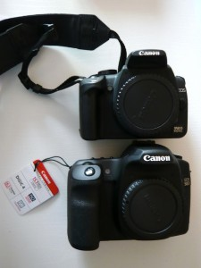 Canon 350D vs 50D - de face