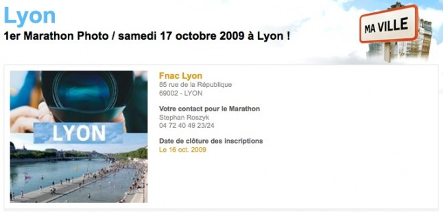 Marathon photo Lyon - Fnac